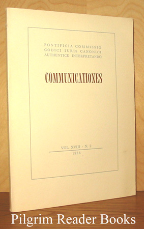Image for Communicationes: Volume XVIII, Number 2, Decembri 1986.