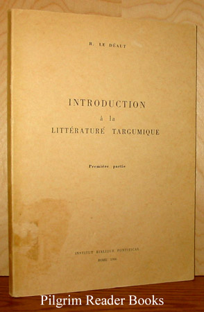 Image for Introduction à la litterature Targumique: première partie.