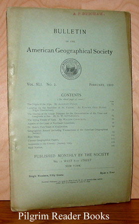 Image for Bulletin of the American Geographical Society: Vol. XLI, No. 2, February 1909.