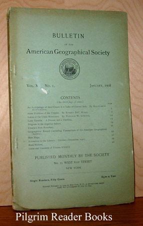 Image for Bulletin of the American Geographical Society: Vol. XL, No. 1, January 1908.