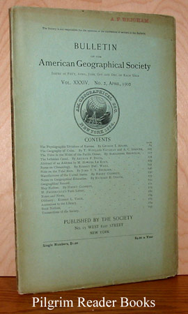 Image for Bulletin of the American Geographical Society: Volume XXXIV, No. 2, April 1902.