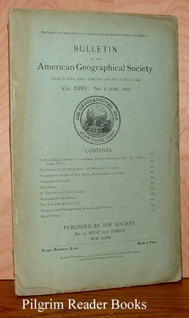 Image for Bulletin of the American Geographical Society: Volume XXXV, Number 3, June 1903.