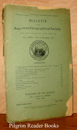 Image for Bulletin of the American Geographical Society: Volume XXXV, Number 4, October 1903.