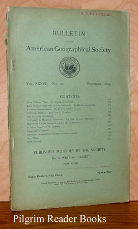 Image for Bulletin of the American Geographical Society: Volume XXXVII, Number 12, December 1905.