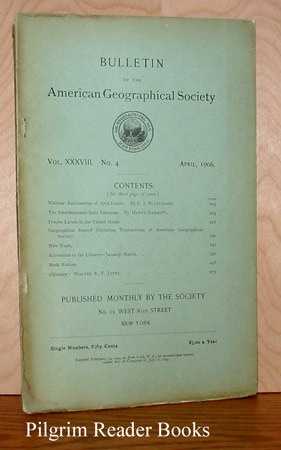 Image for Bulletin of the American Geographical Society: Volume XXXVIII, Number 4, April 1906.