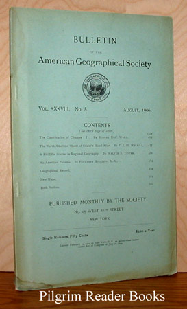 Image for Bulletin of the American Geographical Society: Volume XXXVIII, Number 8, August 1906.