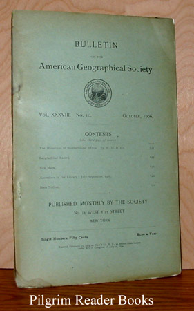 Image for Bulletin of the American Geographical Society: Volume XXXVIII, Number 10, October 1906.