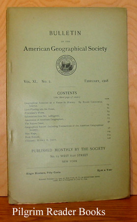 Image for Bulletin of the American Geographical Society: Volume XL, Number 2, February 1908.