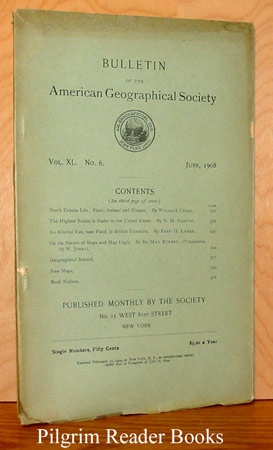 Image for Bulletin of the American Geographical Society: Volume XL, Number 6, June 1908.