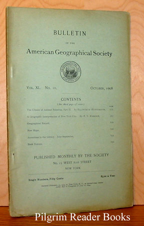 Image for Bulletin of the American Geographical Society: Volume XL, Number 10, October 1908.