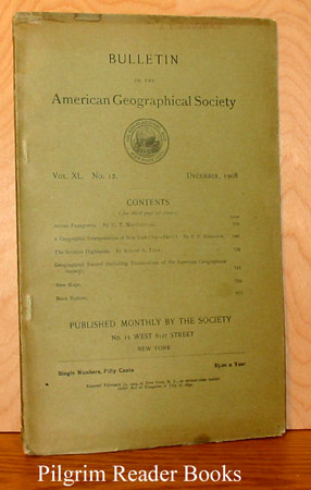 Image for Bulletin of the American Geographical Society: Volume XL, Number 12, December 1908.