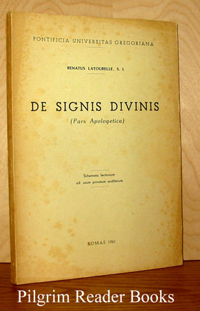 Image for De Signis Divinis. (Pars Apologetica).