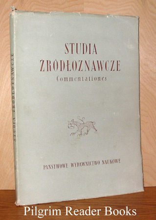 Image for Studia Zrodloznawcze X. (Commentationes).