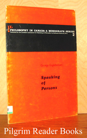 Image for Speaking of Persons (Philosophy in Canada Monograph Series 2).