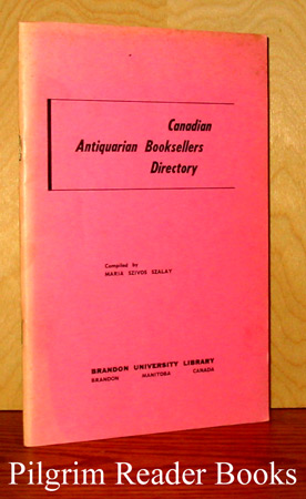 Image for Canadian Antiquarian Booksellers Directory. (1973 edition).