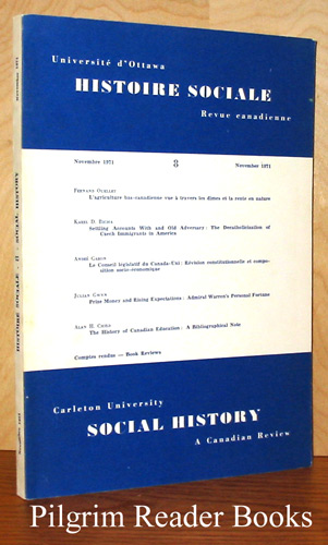 Image for Histoire Sociale, Revue canadienne - Social History, A Canadian Review. Number 8. November 1971.