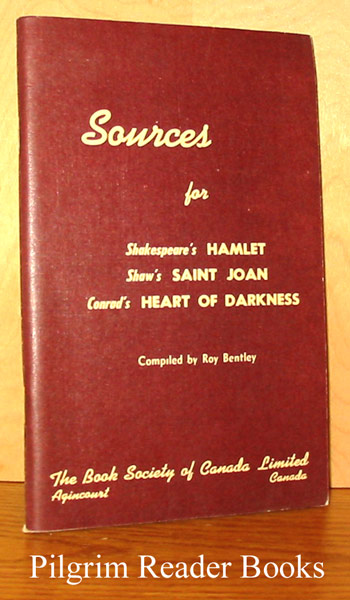 Image for Sources for Shakespeare's Hamlet, Shaw's Saint Joan, Conrad's Heart of Darkness