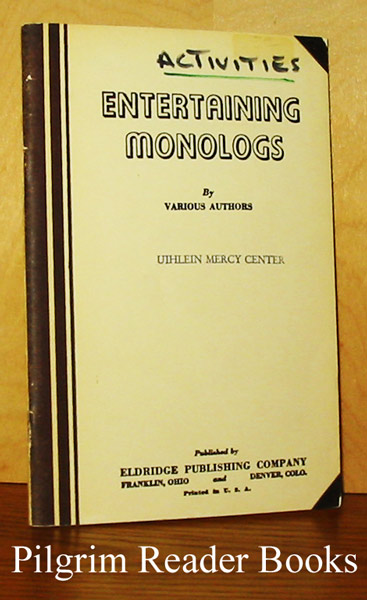 Image for Entertaining Monologs. (Monologues).