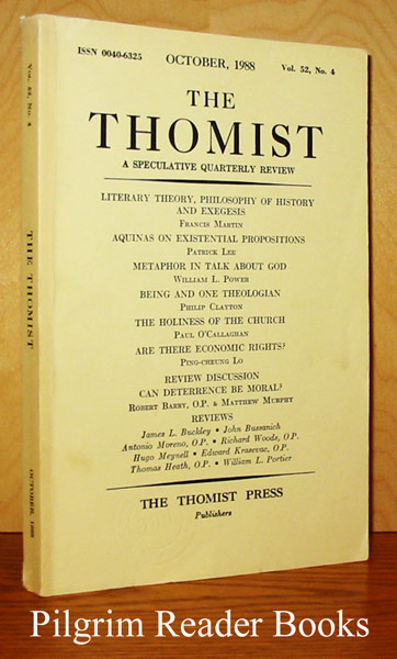Image for The Thomist: A Speculative Quarterly Review. Volume 52, Number 4, October 1988.