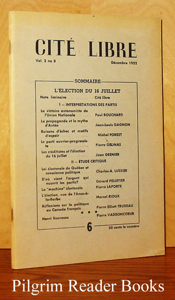 Image for Cité (Cite) Libre: Vol. 2, No. 3, Décembre 1952