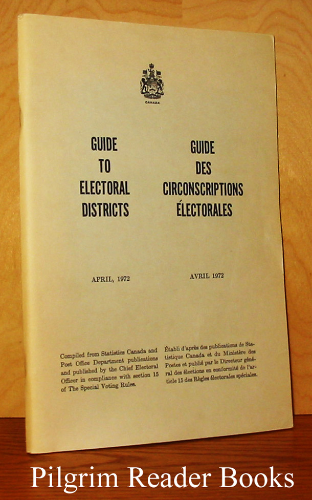 Image for Guide to Electoral Districts, April 1972 / Guide des circonscriptions électorales, Avril 1972.