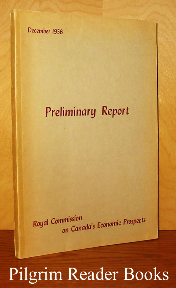 Image for Royal Commission on Canada's Economic Prospects: Preliminary Report, December 1956.