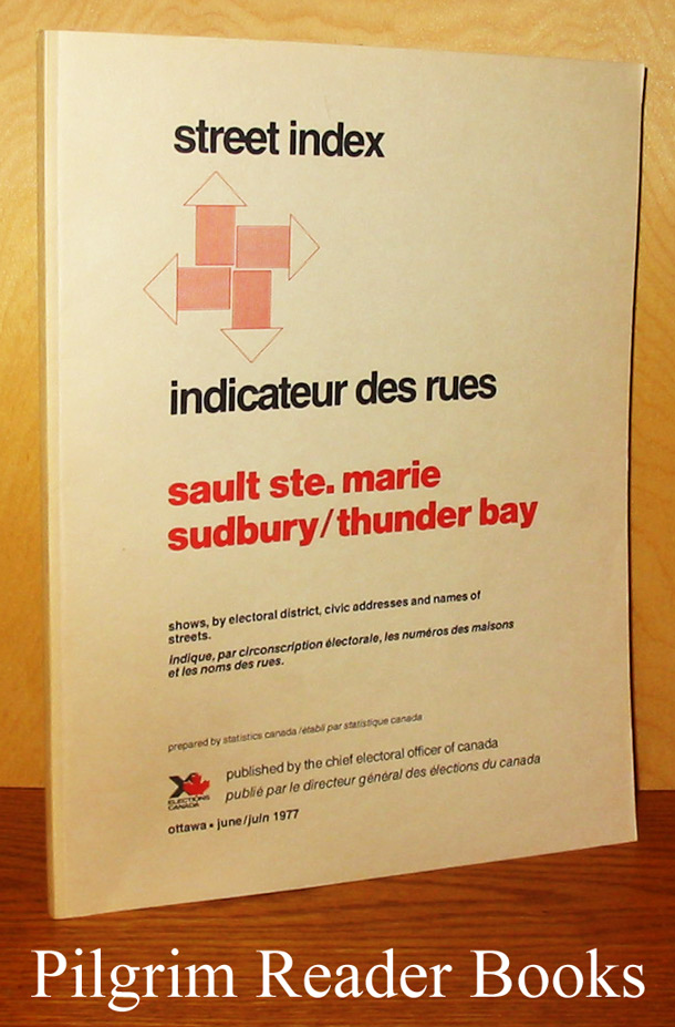 Image for Street Index / Indicateur des rues: Sault Ste. Marie, Sudbury, Thunder Bay.