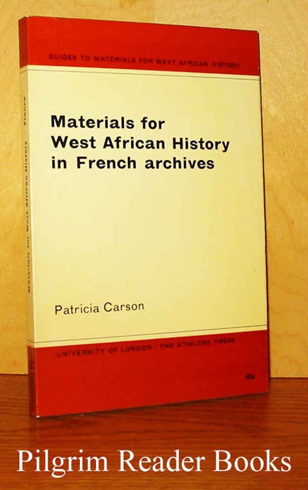 Image for Materials for West African History in French Archives