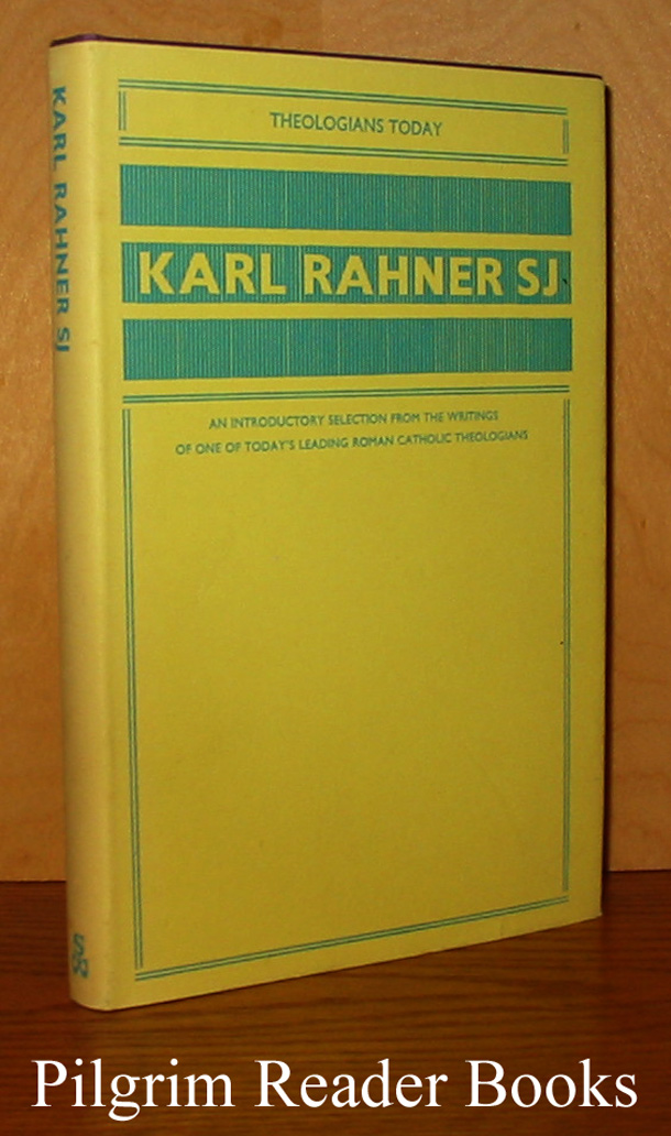 Image for Karl Rahner SJ. (Theologians Today)