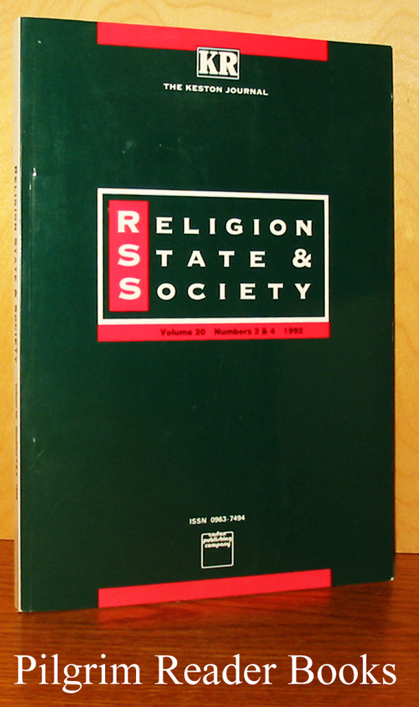 Image for Religion, State & Society. Volume 20, Numbers 3 & 4. 1992. The Keston Journal.