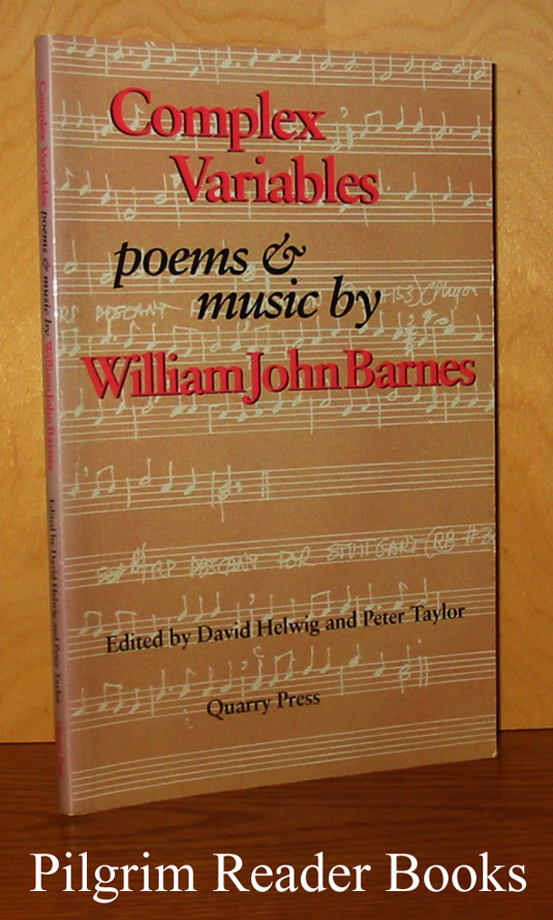 Image for Complex Variables: Poems & Music by William John Barnes.