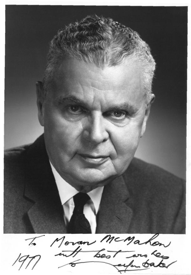 Image for Signed black and white portrait photograph of John Diefenbaker.