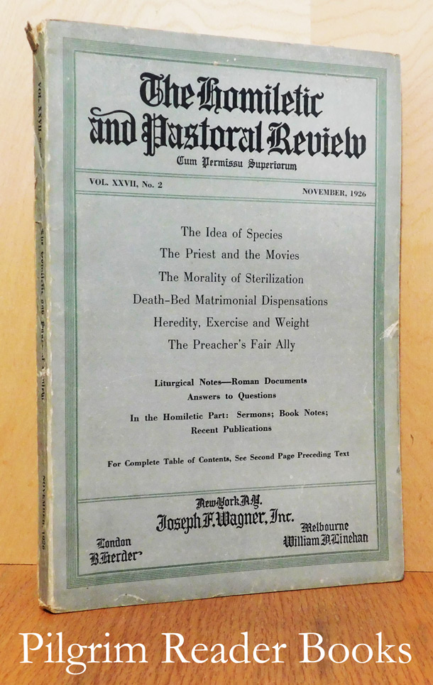 Image for The Homiletic and Pastoral Review, Volume XXVII, Number 2, November, 1926.