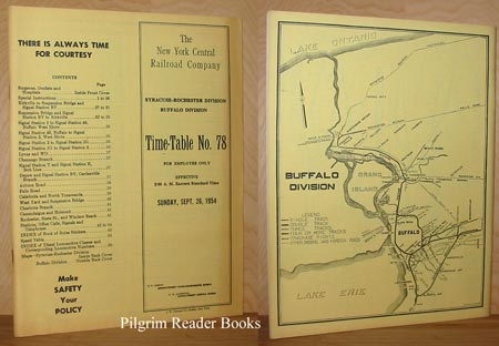 Image for Time-Table No. 78, for Employees Only, Sept. 26, 1954, Syracuse-Rochester Division, Buffalo Division. New York Central Railroad Company.